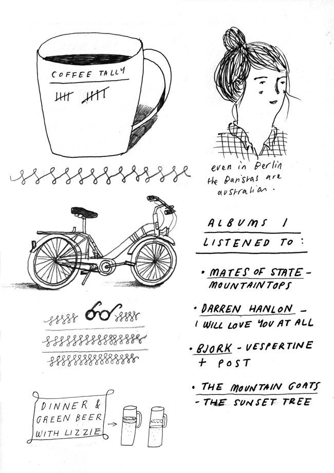 Travel Diaries - About Today - Illustration by Lizzy Stewart