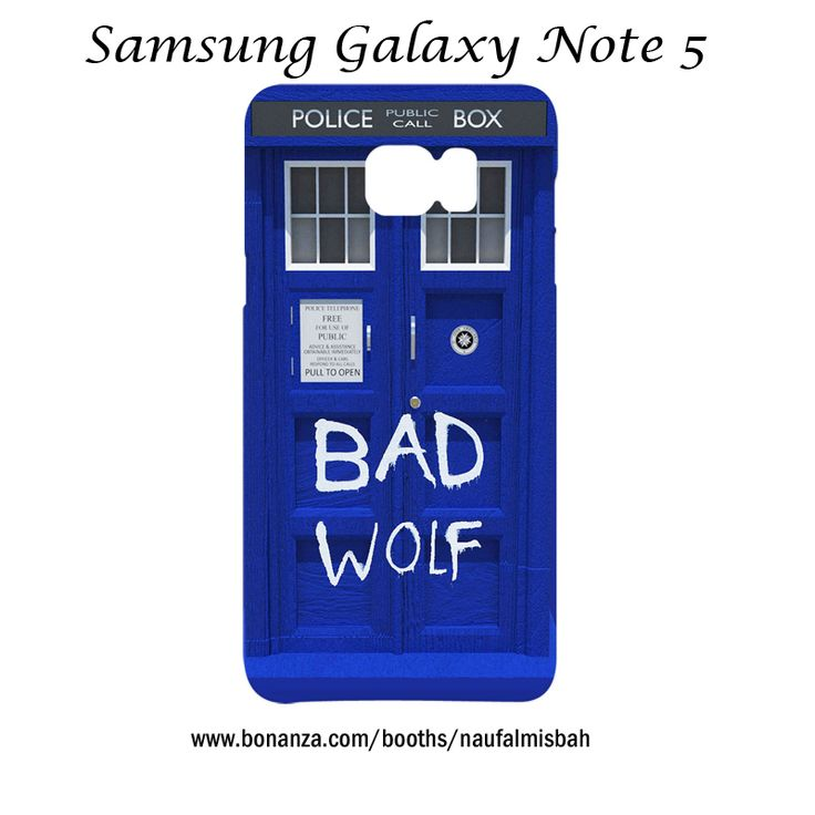 Blue Tardis Dr Who BAD WOLF Samsung Galaxy Note 5 Case Cover Wrap Around