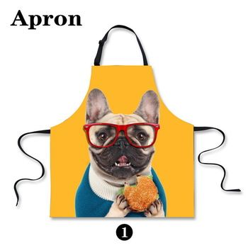 Best price on Cute Dog Print Apron //   See details here: http://smartkitchentools.com/product/unique-work-apron-for-men-women-kawaii-pet-dog-print-personalized-chef-aprons-sleeveless-7567cm-restaurant-kitchen-bib-aprons/ //    #delicious #eating #foodpic #foodpics #eat #hungry #hot #foods #dessert #cake #icecream #delicious