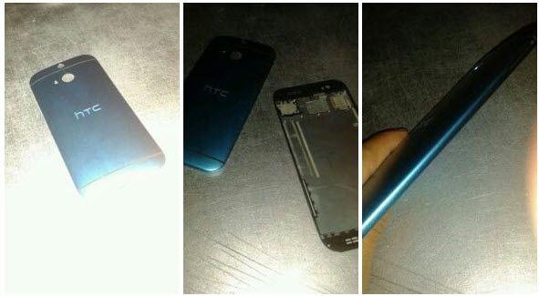 ظهور صورة مسربة لهاتف HTC القادم M8 تظهر قارئ البصمة أعلي الكاميرا