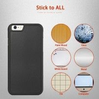 iPhone 6 6s 4.7 - Anti-Gravity Glass Window Suction Sticky Hard Phone Protective Cover Case - Black