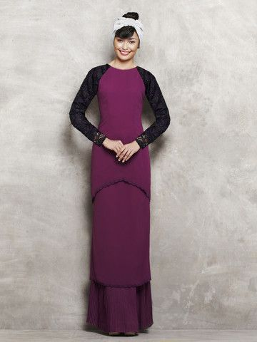 emel by Melinda Looi Modern Kurung with Tiered Skirt