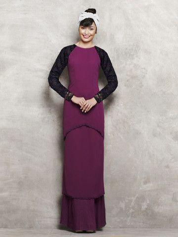 emel by Melinda Looi Modern Kurung with Tiered Skirt