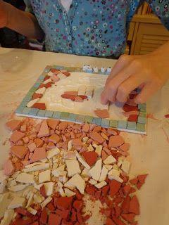 Begeleide of zelfstandige activiteit - Mozaïek van stenen