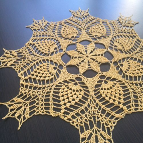 Springtime-Handmade-Crochet-Lace-Doily-Wall-Decoration-Tablecloth-Yellow