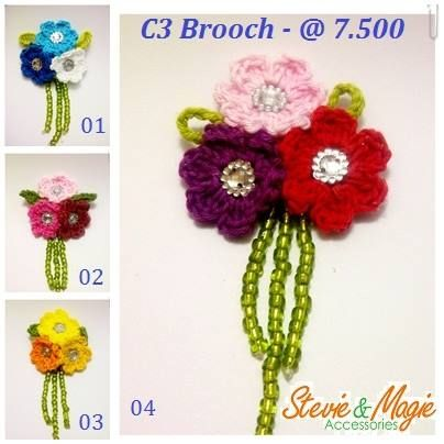 Our mini Brooch, only 5cm, small but sweet. Chat us at Black Berry PIN : 7D1A19E4