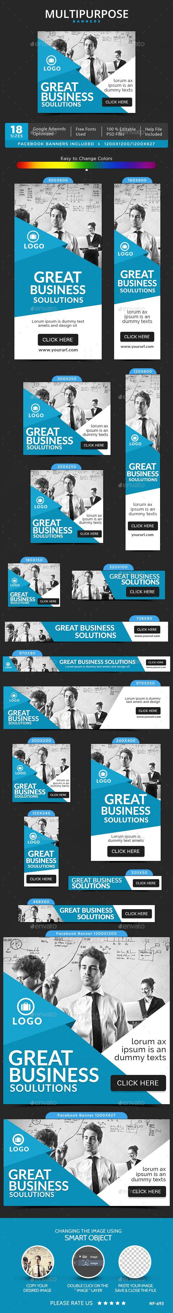 Multipurpose Banners Template #design #ad Download: http://graphicriver.net/item/multipurpose-banners/13112767?ref=ksioks