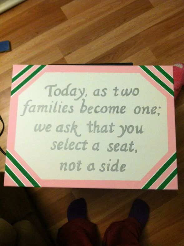 I like this - great when one side of the family is way smaller!