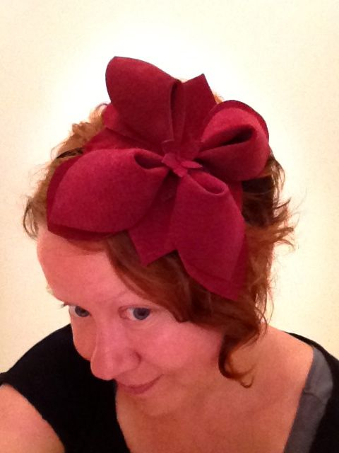 Something I did myself: origami headband from recycled leather. So proud! #diy
