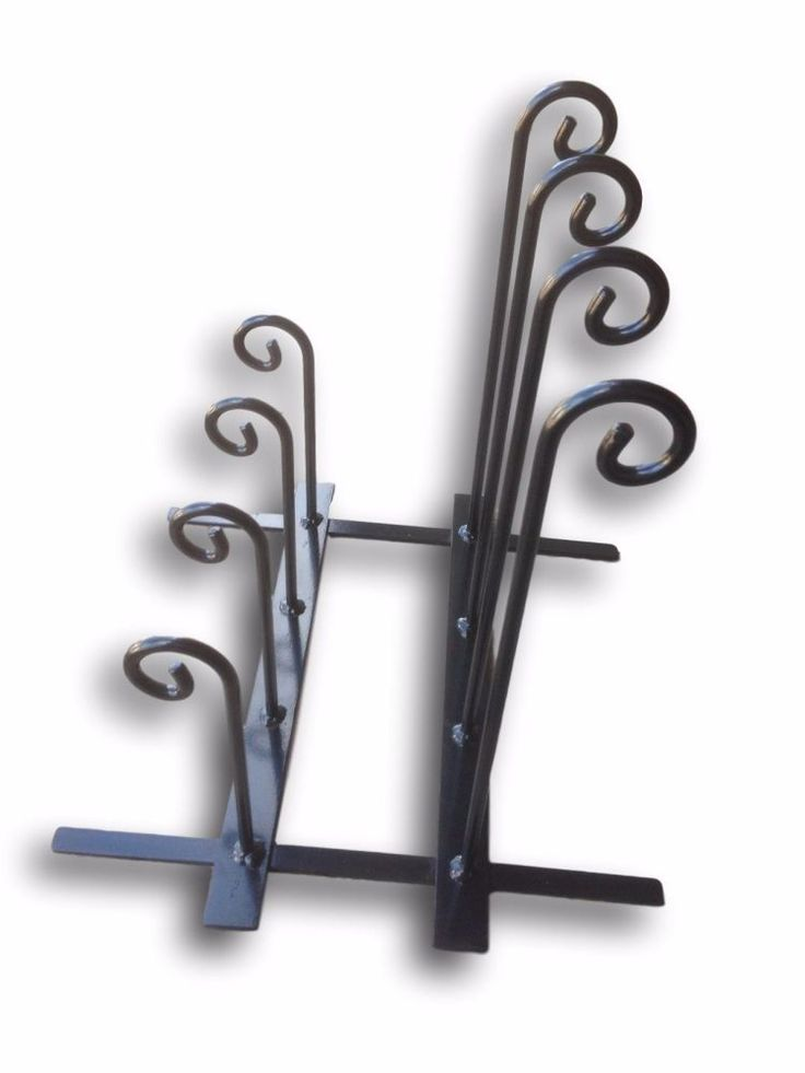 Wrought Iron Style Double Row Wellington Boot Stand - Adult and Child