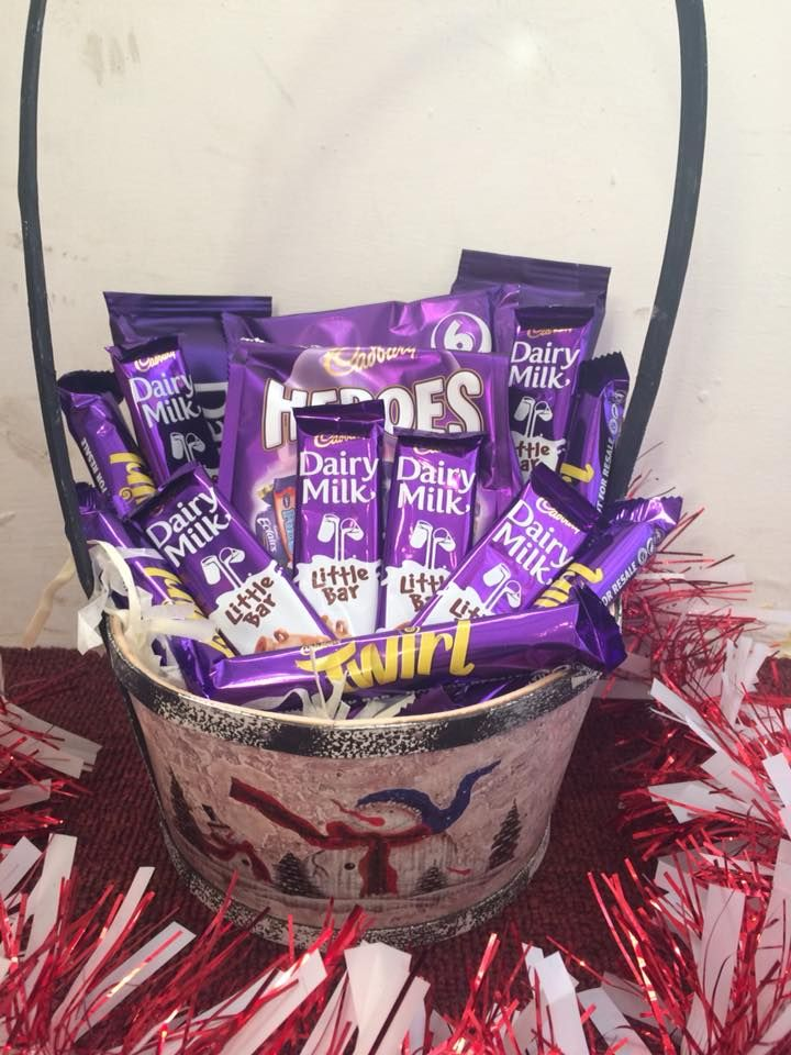 dairy milk hamper perfect for a birthday or christmas gift chocolate dairymilk