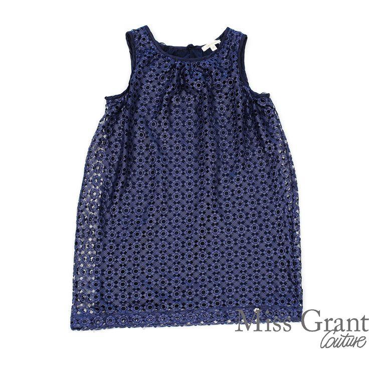 Miss Grant udsalg børnetøj Broderet kjole med bomuld underkjole tilbud børnetøj
