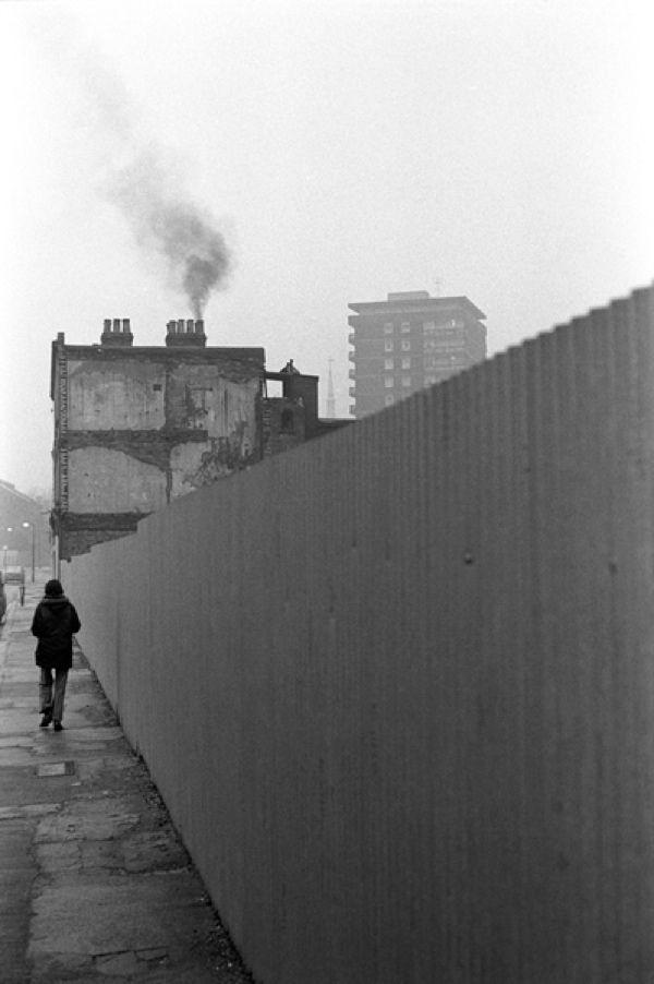 Whitechapel area East London 1976. - note the graffiti free fence