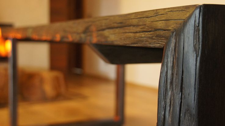 coffee table with bog oak 1600 years