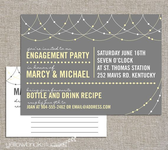 61 best stock the bar coed wedding shower images on pinterest, Party invitations