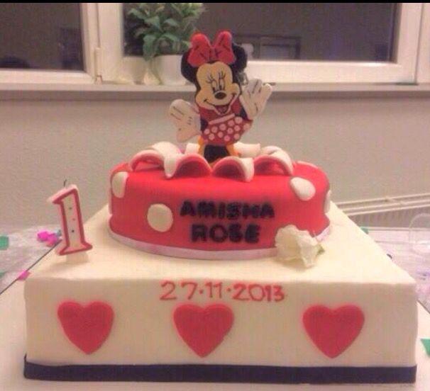 1st Birthday cake minni mouse