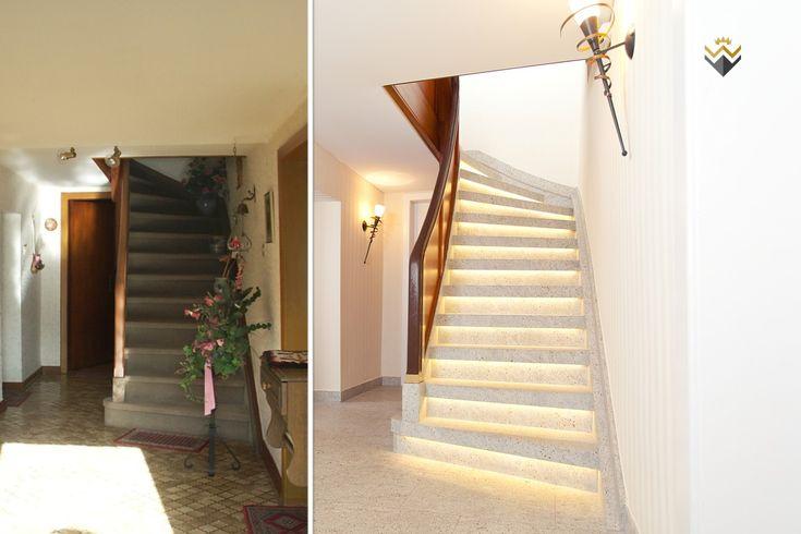28 besten treppenrenovierung holztreppe steintreppe fliesentreppe bilder auf pinterest - Holztreppe fliesen ...
