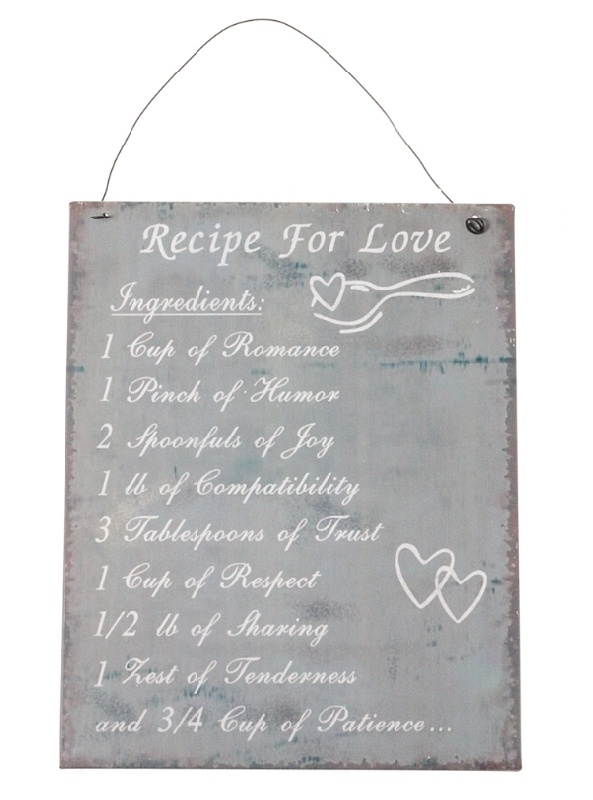 Sisustustaulu Recipe for Love