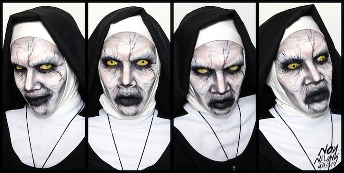 Halloween Makeup Inspiration The Demon Nun Conjuring 2 perfect with Geo CPF2 Yellow Contact Lenses http://www.solution-lens.com