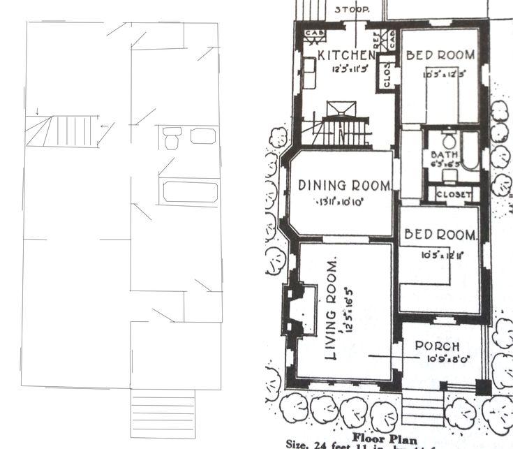 Best 25 bungalow floor plans ideas on pinterest for Chicago style bungalow floor plans