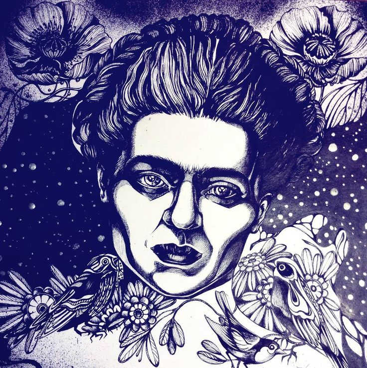 """Frida Kahlo de Rivera / Фрида Кало Мексиканская художница,наиболее известная автопортретами.🎨🌱🌷 """"Я пишу автопортреты,потому что я так часто бываю в одиночестве,потому что я человек,которого я знаю лучше всего."""" #art #arigart #artist #artsy #ink #illustration #inspiration #blackandwhite #portrait #FridaKahlo #graphic #drawing #picture #pic #painting #instagood #birds #flowers #star #love #художник #портрет #красота #природа #nature #topcreator #best #instaart #gallery #sketch"""