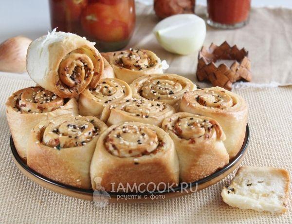 Фото постного лукового пирога