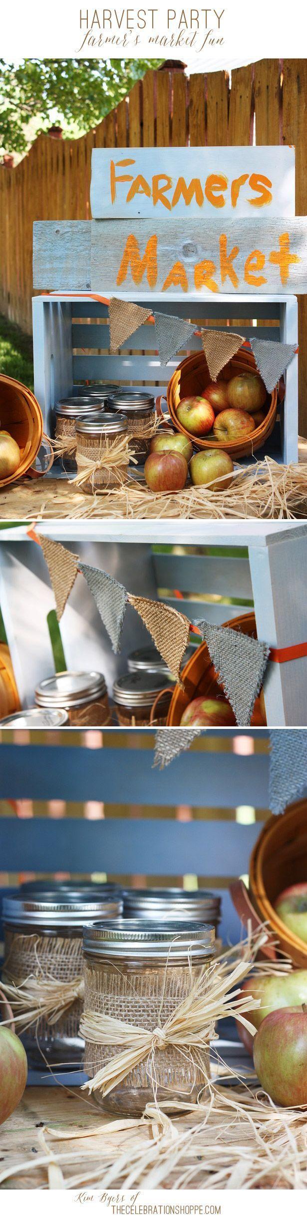 Fall Harvest Party Ideas - Mini Farmer's Market | Kim Byers - The Celebration Shoppe