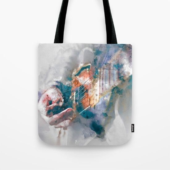 Guitar Tote Bag by JKdizajn - $22.00