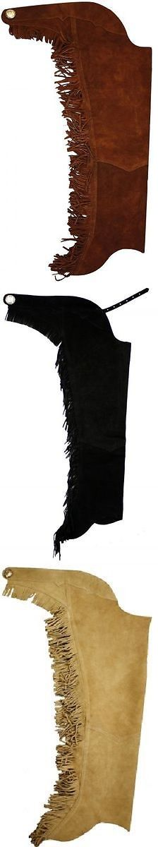 Western Chaps Full Chaps 183358: Brown Western Leather Fringe Show Horsemanship Equitation Chaps Xs S M L Xl Xxl -> BUY IT NOW ONLY: $69.99 on eBay!