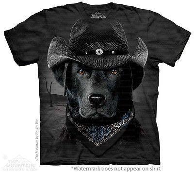 Big Face Cowboy Black Lab T-Shirt