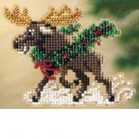 Merry Moose Bead Christmas Ornament Kit Mill Hill - $4.99