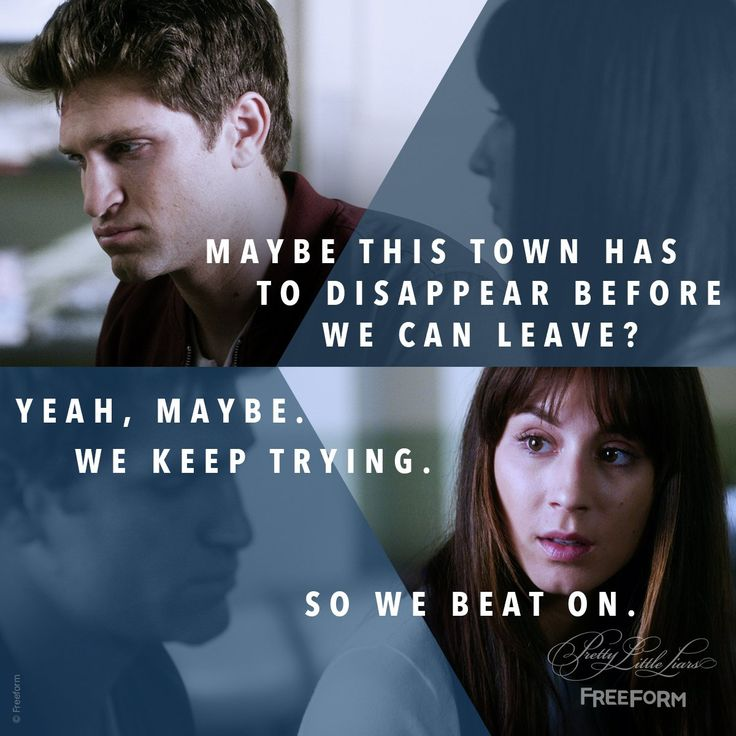 "S7 Ep11 ""Playtime"" - So we beat on. #PrettyLittleLiars"
