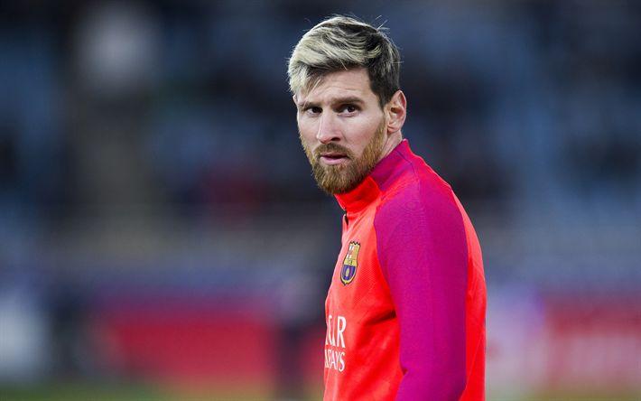 Download wallpapers Messi, 4k, football stars, Barca, Lionel Messi, FC Barcelona, footballers, FCB, soccer, Leo Messi