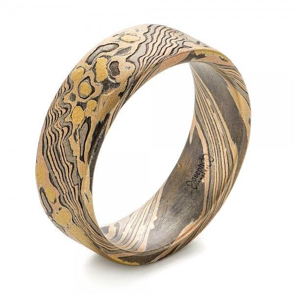 custom mokume wedding band joseph jewelry bellevue seattle online design your