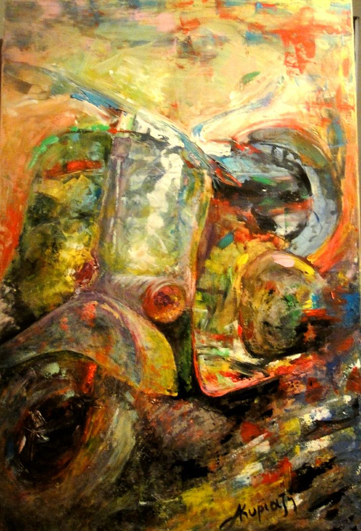 vespa  120x90cm acrylic on canvas