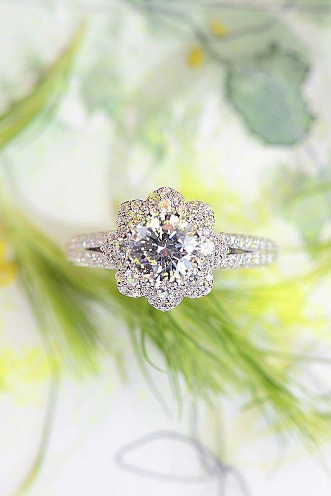Wedding rings flowers  Top 25+ best Floral engagement ring ideas on Pinterest | Vintage ...