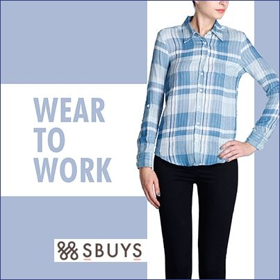 Gain #Stylish #Officewear look with Plaid #Shirt....Check Out Now http://www.sbuys.in/sbuys-plaid-shirt-3440.html