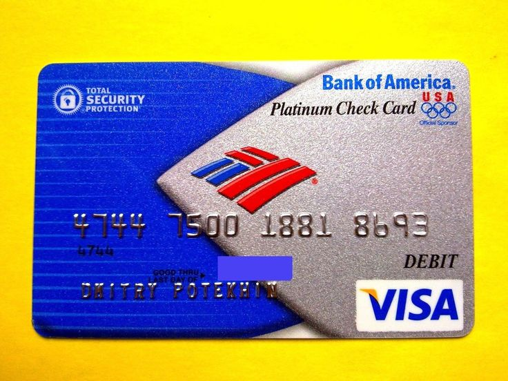 USA BANK OF AMERICA VISA PLATINUM | Предметы для коллекций, Кредитные и платежные карты | eBay!