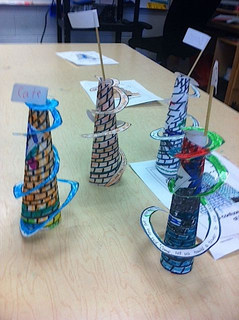 kids crafts for the tower of babel - Google Search