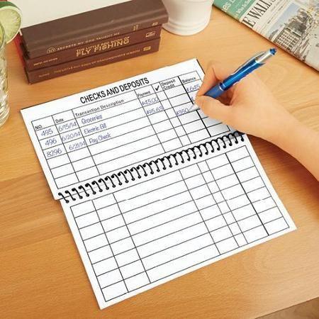 Jumbo Large Print Checkbook Register- Balancing Checkbook