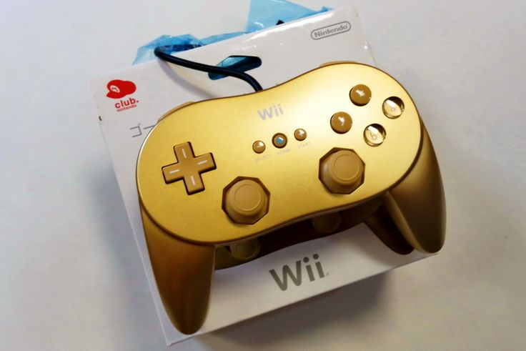 Wii Classic controller pro gold