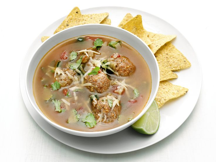 Mexican Chorizo Meatball Soup recipe from Food Network Kitchen via Food Network