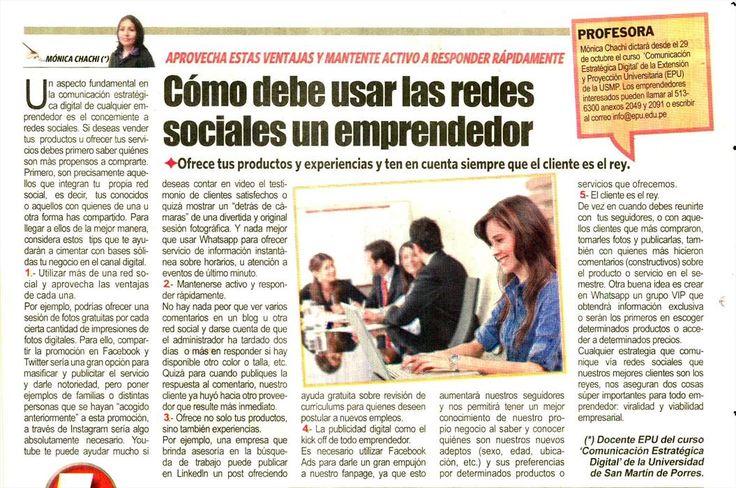 Cómo debe usar las redes sociales un emprendedor. Diario Expreso.