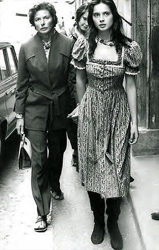these women both remind me of my beautiful mother, Ursula Lukas Slavick: Isabella Rosselini  Ingrid Bergman