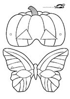pumpkin and butterfly masks