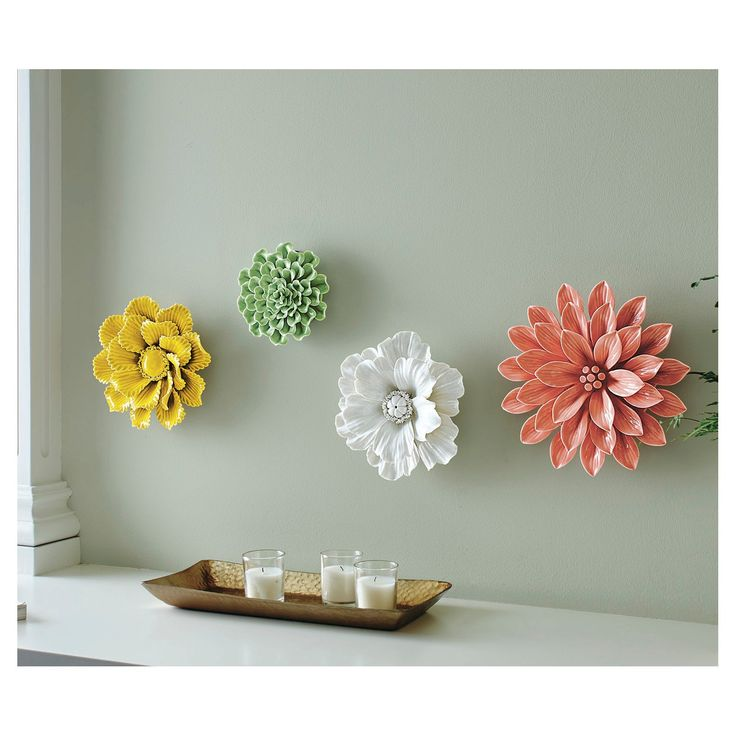 Ceramic Flower Wall Decor Target : Images about girly nursery on shelves