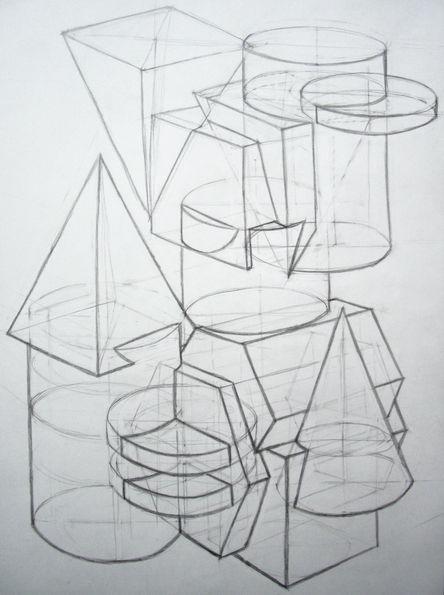 Рисование эскизов объектов и пространства из воображения