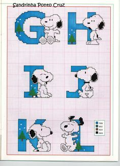 Sandrinha Cross Stitch: Special Snoopy ... Camila Baby