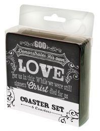 "COASTERS:  CHALKBOARD RANGE (COA006). Available from Faith4U Book- and Giftshop, Secunda, SA. Email ""faith4u@kruik.co.za"""