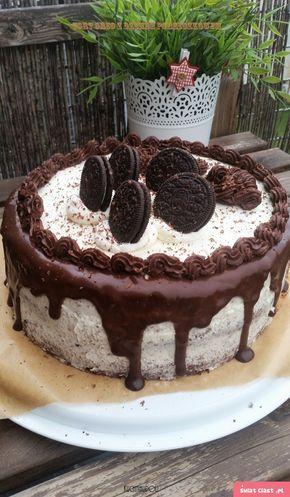 Tort Oreo z dżemem porzeczkowym